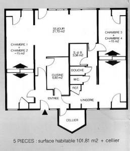 plan d'une maison basse