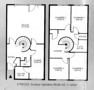 plan d'une maison haute